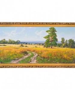 Картина  Август  багет №6,5 (33х70 см) БС1