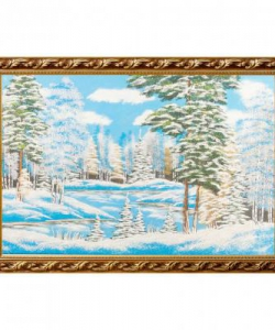 Картина  Зимний пейзаж  багет №9 (60х90 см) гориз. в ассортименте
