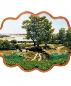 Панно  Дорога к реке  №3 (34х26 см)