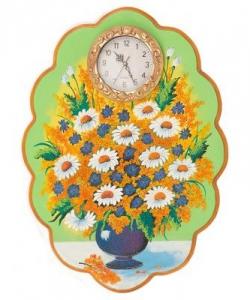 Часы с картиной  Полевые цветы  48х66 см